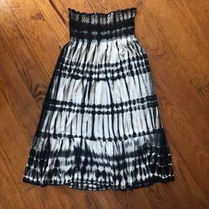 Tie Dye Michael Kors Strapless Midi Dress L